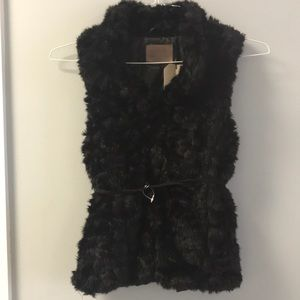 Zara Girls fur vest
